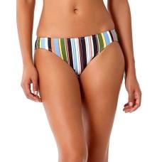 Anne Cole Comic Stripe Bikini Bottom (Multi, XL)