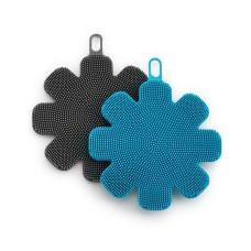 Art & Cook Silicone Sponges Set of 2, Blue/Black