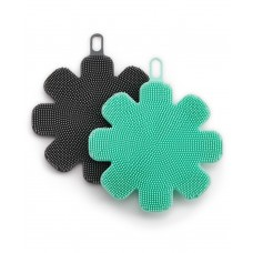 Art & Cook Silicone Sponges Set of 2, Green/Black