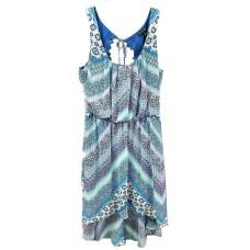 As U Wish Women's Aztec Chiffon Hi-lo Summer Dress