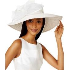 August Hat Aster Extra Wide Brim Hat (White)