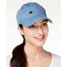 August Hat Charms Denim Baseball Cap (Light Denim, One Size)