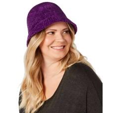 August Hat Chenille Cloche (Purple, One Size)