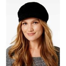 August Hat Chenille Modcap Hat (Black)