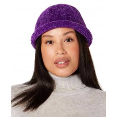 August Hat Chenille Roll-Up Hat (Purple, One Size)