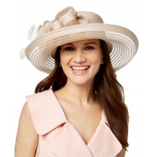 August Hat Citrine Romantic Profile Hat (Nude, One Size)