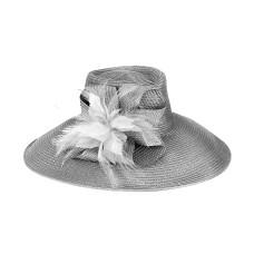 August Hat Company Aquamarine Large Romantic Profile Hat (Gray, One Size)