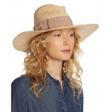August Hat Company Bow Detail Fedora (One Size, Medium Beige)