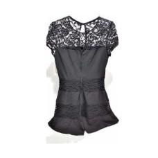 B. Darlin Juniors' Illusion Lace Fit & flare Dress (Black, 13/14)
