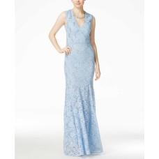 B Darlin Juniors Sleeveless Embellished Cornflower Blue Gown Size 5/6