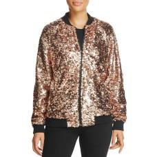 Bagatelle Women's Sequin Bomber Jacket