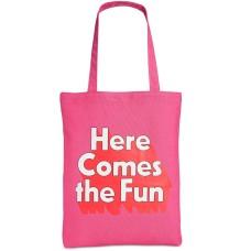 Ban.do 'Here come the fun' Pink Canvas Tote Handbag