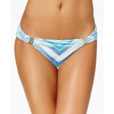 Bar III Hardware-Trim Printed Bottoms Women's Swimsuit (Scarf Print, L)