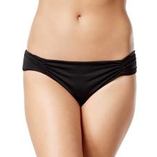 Bar III Tab-side Cheeky Bikini Bottoms (Black, XS)