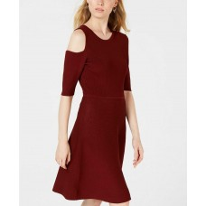 Bar III Women's Cutout Knit A-Line Dress