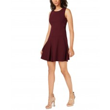 Bar III Women's Tiered Lace-Up Dress
