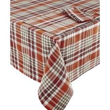 Bardwil Berry Plaid Table Runner (Medium Brown, 14″ x 70″)