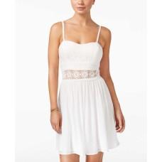 BCX Juniors Lace Illusion Waist F White Size 9