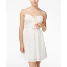 Be Bop Juniors Crochet Lace Sweetheart Dress