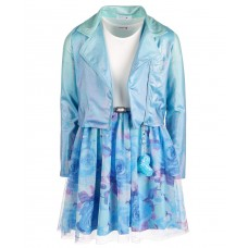 Beautees Big Girls 2-Pc.Ombre Moto Jacket & Floral Dress Sets