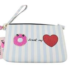Betsey Johnson Womens Donut Pouch Wristlet Wallet