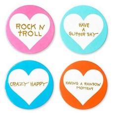 Betsey Johnson xox Trolls Set of 4 Assorted Coasters