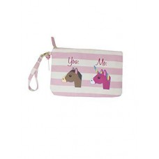 Betsey Johnson You and Me Unicorn Striped Wristlet Wallet Pouch