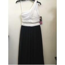 Blondie Nites Black and White Dress (White/Black, 5)