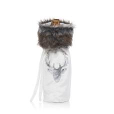 Bloomingdale's Velvet & Faux-Fur Reindeer Wine Bag