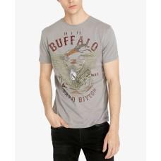 Buffalo David Bitton Men's Tiblu Graphic T-Shirt (Medıum Gray, XXL)