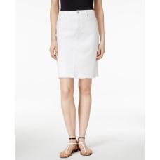 Calvin Klein Jeans Let Down Hem Skirt (White, 28)