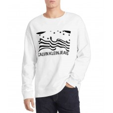 Calvin Klein Jeans Men's Boxed Flag Long-Sleeve T-Shirt (Natural, XX-Large)