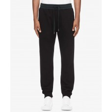 Calvin Klein Jeans Men's Monogram Fleece Pants (Charcoal, X-Large)