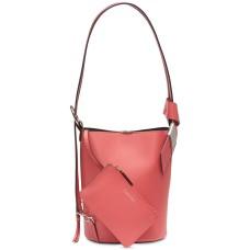 Calvin Klein Karsyn Convertible Hobo Backpa Rose Quartz/Silver