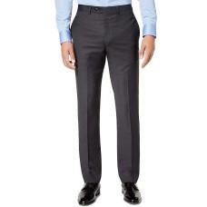 Calvin Klein Men's Slim-Fit Gray/Blue Plaid Suit Pants (30X32)