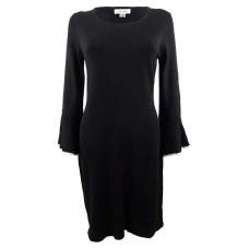 Calvin Klein Petite Bell-Sleeve Sweater Dress (Black, Medium)