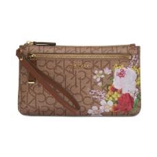 Calvin Klein Top Zip Wristlet Wallet (Rustcopper)