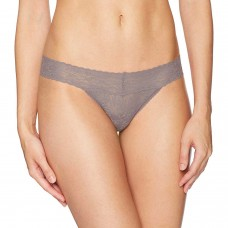 Calvin Klein Women's Barelace Thong (Waterstone, Large)