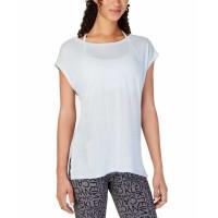 Calvin Klein Women's Performance Cap-Sleeve Crisscross Back T-Shirt Tops