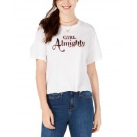 Carbon Copy Women's Graphic-Print T-Shirt Tops