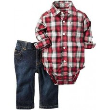 Carter's Baby Boys' 2 Pc Sets 127g201, Red, 3M
