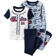 Carter's Baby Boys' 4-Pc. All-Star Sports Cotton 321g181 Pajamas Sets