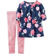 Carter's Baby Girls 2 Piece Playwear Sets 239g220, Print, New Born