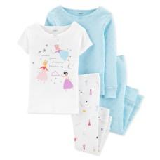 Carter's Baby Girls 4-Pc.Cotton Pajamas Set