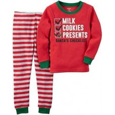 Carter's Boys' 2 Pc Cotton 341g244, Milk and Cookies, 2T