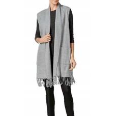 Cejon Milanese Heathered Woven Vest (Grey,S/M)