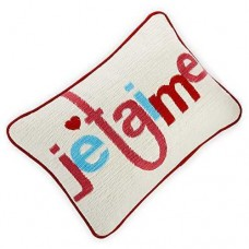 Celebrate Shop 13 x 9-in Je Taime Decorative Throw Pillow, White/Red