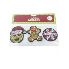 Celebrate Shop 3-Pk. Holiday Peel & Stick Patches Emoji Gingerbread & Candy Set