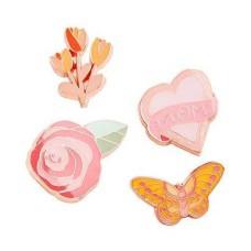 Celebrate Shop 4-Pc Mom Heart Handbag Pin Set, Pink