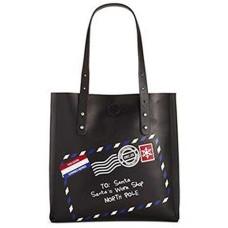Celebrate Shop Postcard 'Santa's Work Shop' Handbag Tote Multi ONE SIZE